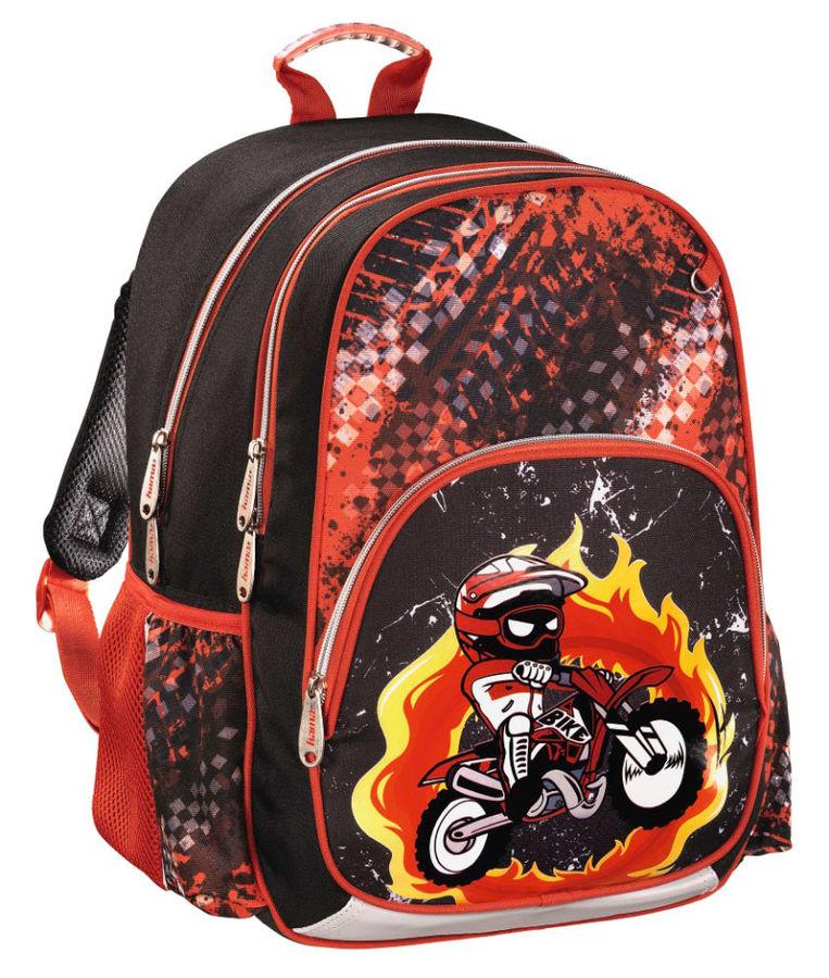 953973cd45d2 Рюкзак детский HAMA MOTORBIKE черный/красный