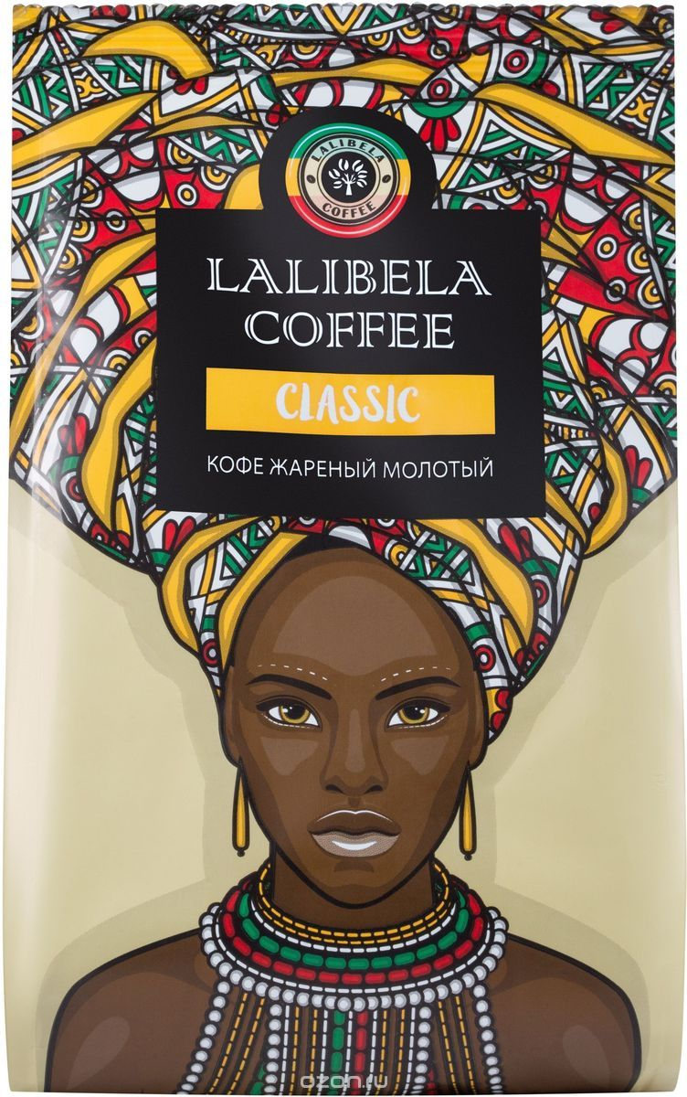 Кофе LALIBELA COFFE SIDAMO WASHED средней обжарки в зернах (0,25кг)