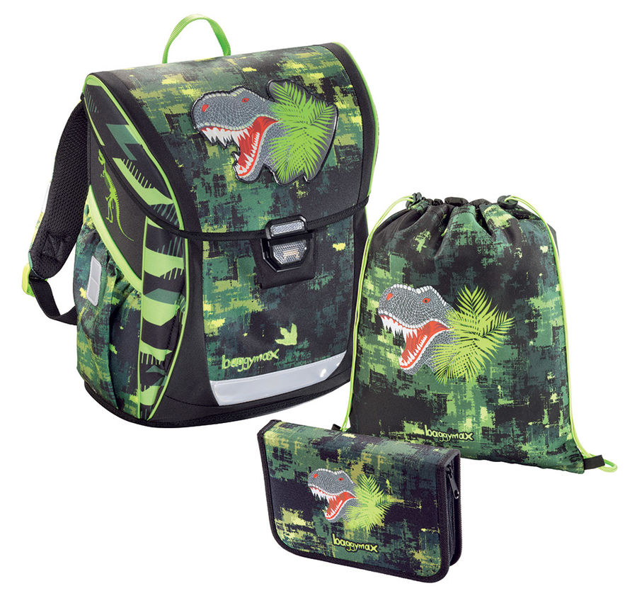 Ранец STEP BY STEP BaggyMax Fabby Green Dino 3 предмета (00138630)